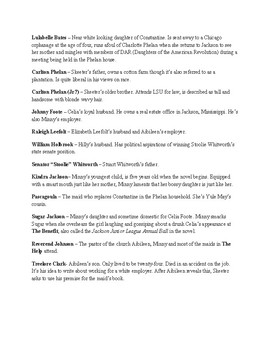 The Help Chapter 1-8 Teaching Packet 1