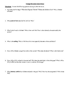 The Help Film (2011) Study Guide Movie Packet