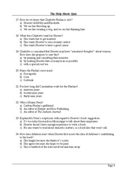 The Help Movie - 100 Question Multiple Choice Quiz