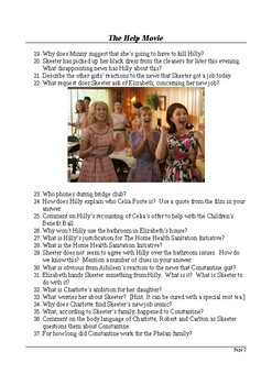 The Help Movie - Detailed Viewing Questions (with Answer Key)