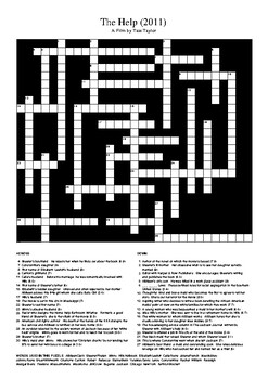 The Help Movie - Review Crossword Puzzle