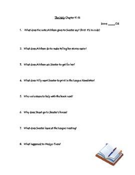 The Help Novel Unit Quizzes