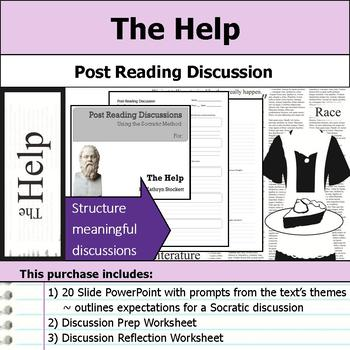 The Help by Kathryn Stockett - Socratic Method - Post Reading Discussions
