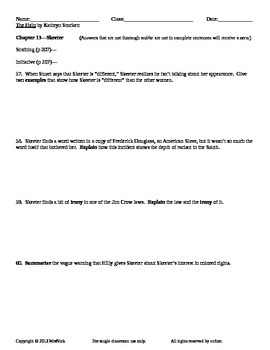The Help by Kathryn Stockett Guided Reading Worksheets by MrsNick
