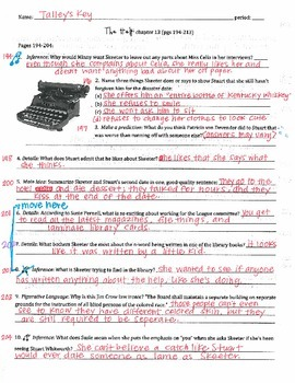 The Help - Kathryn Stockett: ch 13 Questions w/ Answer Key