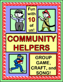 """""""The Helpers in My Town!"""" - Community Helpers Group Game, Song and Craft!"""