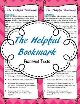 The Helpful Bookmark for fictional texts