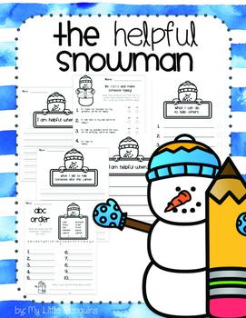 The Helpful Snowman winter writing (no prep)