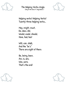 The Helping Verbs Jingle