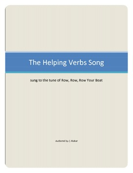 The Helping Verbs Song Tune of Row Row Row Your Boat