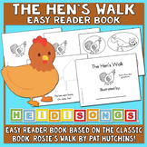 The Hen's Walk Easy Reader Book To Make & Read - Heidi Songs