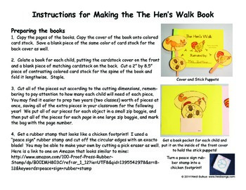 The Hen's Walk Easy Reader Book To Make & Read