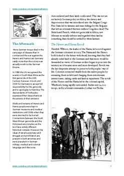 The Herero and Nama Genocide 1904-8
