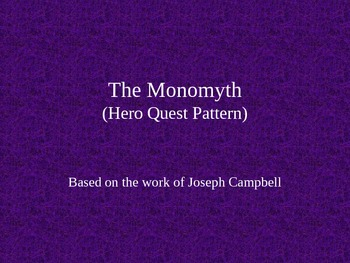 The Hero Quest Pattern Lecture