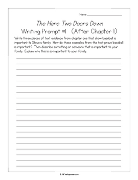 The Hero Two Doors Down: 11 Writing Prompts and 11 Quizzes