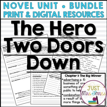 The Hero Two Doors Down Novel Unit
