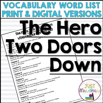 The Hero Two Doors Down Vocabulary Word List