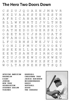 The Hero Two Doors Down Word Search