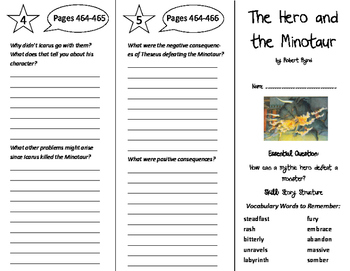 The Hero and the Minotaur Trifold - Journeys 6th Grade Uni