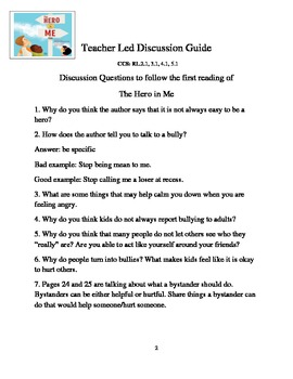 The Hero in Me  - Reading Writing Activities
