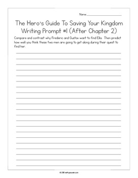 The Hero's Guide To Saving Your Kingdom:  16 Writing Prompts