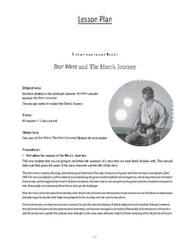 The Hero's Journey Featuring Star Wars - Lesson Plan