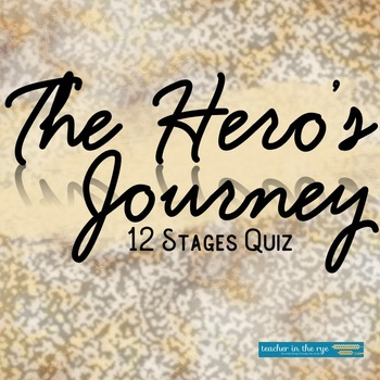 The Hero's Journey--12 Stage Fill in the Blank Write-On Quiz--Ready to Use!