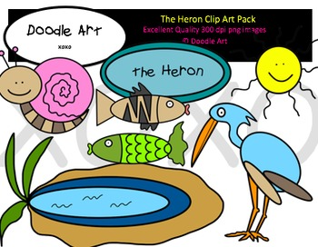 The Heron Clipart Pack