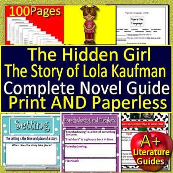 The Hidden Girl Novel Study Unit Use With OR Without Google Drive