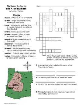 The Hidden Southwest: THE ARCH HUNTERS Study Unit