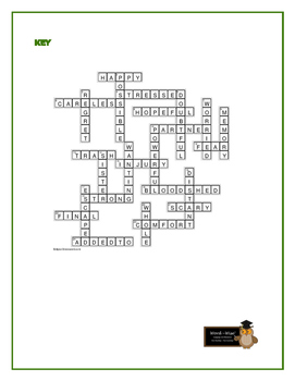 The Hideout: 25 Words to Know Crossword—Companion product to Bookmarks Plus!