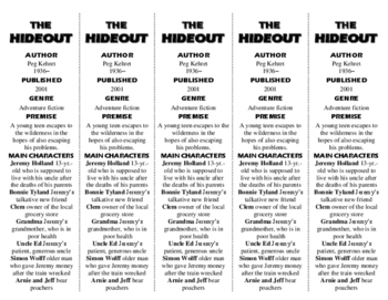 The Hideout ed. of Bookmarks Plus—Fun Freebie & A Handy Little Reading Aid!