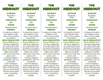 The Hideout ed. of Bookmarks Plus—Handy Reading Aid and a