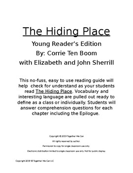 The Hiding Place - Complete Reading Guide