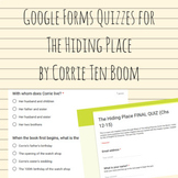 The Hiding Place Google Forms Quizzes