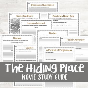 The Hiding Place Movie Study
