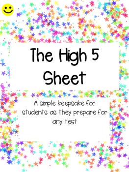 The High 5 Sheet