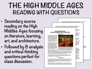 The High Middle Ages - Reading with Questions - Global/World History