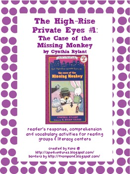 The High-Rise Private Eyes #1 Literature Study Packet
