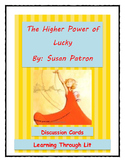 The Higher Power of Lucky By Susan Patron - Discussion Cards