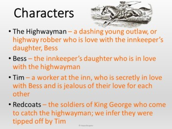 The Highwayman by Alfred Noyes PowerPoint Poetry Study