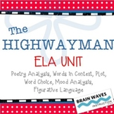 """The Highwayman"" Unit - Poetry Analysis (Common Core Aligned)"