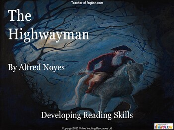 The Highwayman teaching resource - Powerpoint, plans and worksheets