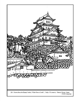 The Himeji Castle.  Coloring page and lesson plan ideas