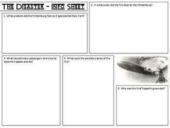 The Hindenburg Disaster - Worksheets