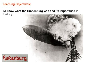 The Hindenburg Disaster and Quiz