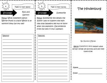 The Hindenburg Trifold 5th Grade Unit 6 Week 4