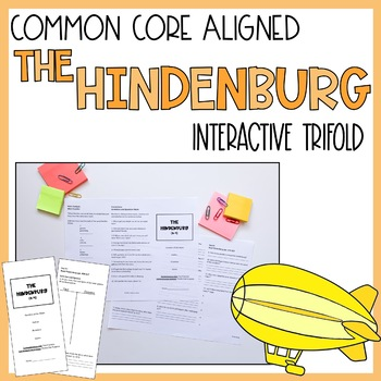 The Hindenburg Trifold Activity (Reading Street)