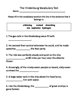 The Hindenburg Vocabulary Test and Vocabulary Dominoes