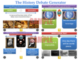 The History Debate Generator [200 Slide PPT with 'Randomis
